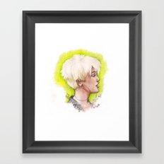 MC Green Lime Framed Art Print