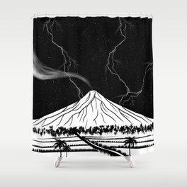 Mayon Volcano Philippines Shower Curtain