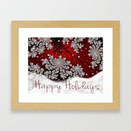 Happy Holidays Christmas Greeting Framed Art Print