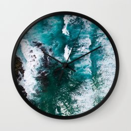 Looking Down on the Ocean Wall Clock