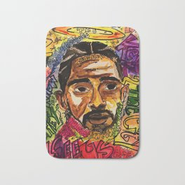rip nip,rapper,rap,lyrics,music,album,poster,shirt,memorial,hiphop,wall art,painting,fan art,cool Bath Mat