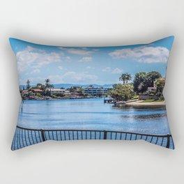 Houses On The Nerang River Rectangular Pillow