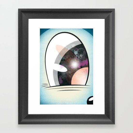Cartoon Eye Framed Art Print