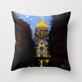 Golden Dome At Dusk: South Bend, IN Throw Pillow