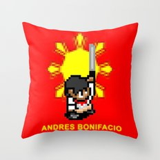 16-bit Andres Bonifacio Throw Pillow