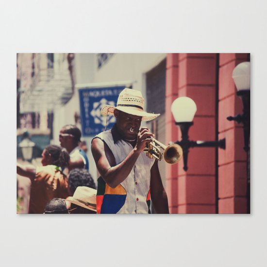 trumpeter Canvas Print