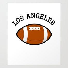 Los Angeles American Football Design black lettering Art Print