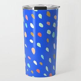Blue Party Paint Dots Travel Mug