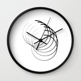 """"""" Eclipse Collection"""" - Minimal Letter O Print Wall Clock"""