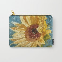 Sunflower Painting, Watercolor Sunflower, Sunflower Art,Sunflower Wall Art Carry-All Pouch