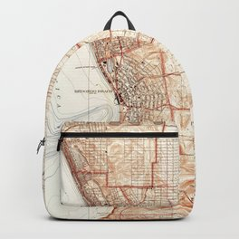 Vintage Map of Redondo Beach & Torrance CA (1934) Backpack