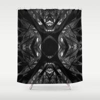 black widow Shower Curtains featuring Black Widow by SwanniePhotoArt