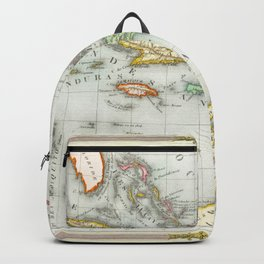 Vintage Map of The Caribbean (1846) Backpack