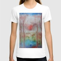 coral T-shirts featuring Coral by Terese Dombrowski