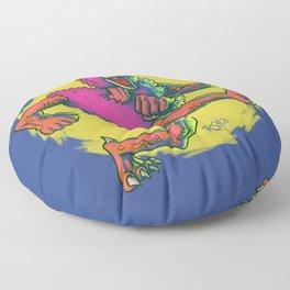 Cluckasaurus Must Be Off His Meds Again Floor Pillow