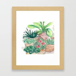 Plants! Framed Art Print