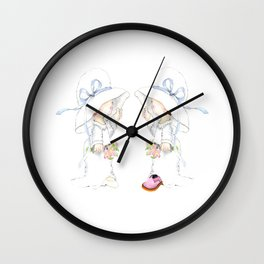 Little Bride and Bride Wall Clock
