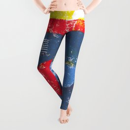 Basic in red, yellow and blue Leggings