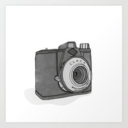 Vintage Analog Camera - Agfa Clack (B&W Edition) Art Print