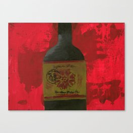 A Bottle Of Red Canvas Print