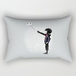 Boy with Robot Rectangular Pillow