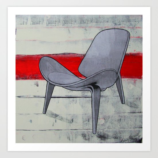 redline chair 01 Art Print