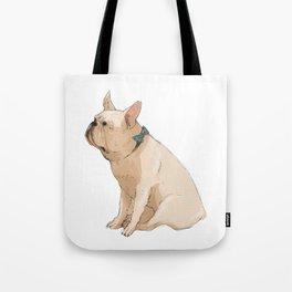 French bulldog in Blue Tote Bag
