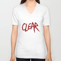 clear V-neck T-shirts featuring .: CLEAR :. by Frankie White