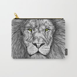 Lion with green eyes Carry-All Pouch