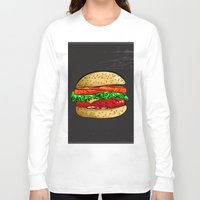 burger Long Sleeve T-shirts featuring Burger by YusufSangdes