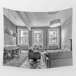 New Town Flat Wall Tapestry