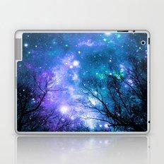 Black Trees Violet Teal Space Laptop & iPad Skin