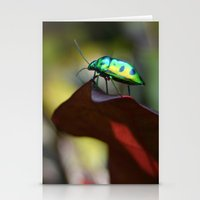 philippines Stationery Cards featuring Iridescent Bug (Philippines) by Dr. Tom Osborne