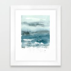 dissolving blues Framed Art Print