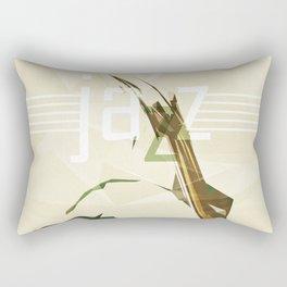 Contrabassist. Jazz Club Poster Rectangular Pillow