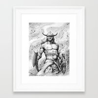 conan Framed Art Prints featuring CONAN Robert E. Howard by CHRIS MASON