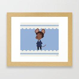 An adorable lab rat Framed Art Print
