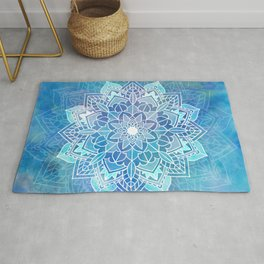 Mandala blue Rug