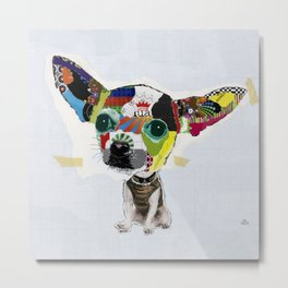 Chihuahua Colorful Dog POP Art Collage Metal Print