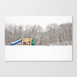 Snowy playground  Canvas Print