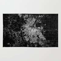 denver Area & Throw Rugs featuring Denver map by Line Line Lines
