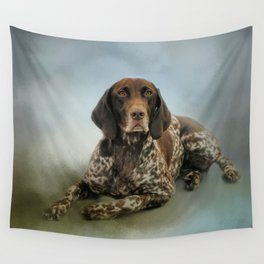 Waiting For A Cue - German Shorthaired Pointer Wall Tapestry