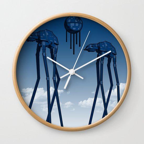 Dali's Mechanical Elephants - Blue Sky Wall Clock