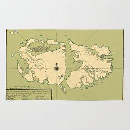 Map Of Falkland Islands 1700 Rug