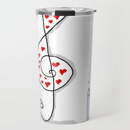 Cute Music is in the air in a valentine's day Travel Mug