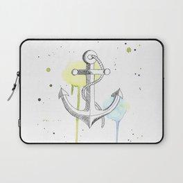 Ancre de bateau (Aquarelle) Laptop Sleeve