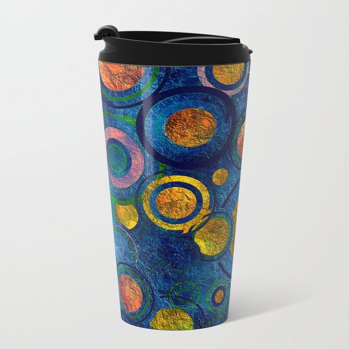 Full of Golden Dots - color variation Metal Travel Mug