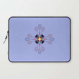 Badminton Racket and Shuttlecock Design Laptop Sleeve