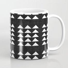 Tribal Triangles in Black and White Coffee Mug