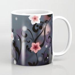Pink and white flowers - Elegant Coffee Mug